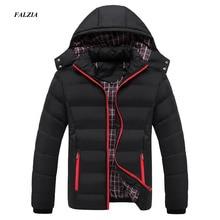 Faliza新メンズ冬のジャケット暖かい男性コートファッション厚い熱男性パーカーカジュアル男性ブランド服プラスサイズ 6XL SM MY G