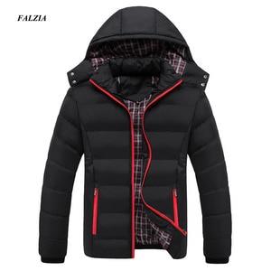 Image 1 - Faliza新メンズ冬のジャケット暖かい男性コートファッション厚い熱男性パーカーカジュアル男性ブランド服プラスサイズ 6XL SM MY G