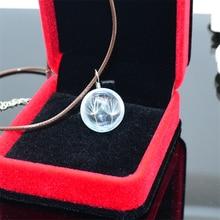 8SEASONS New Fashion Dandelion Glass Necklace Women Men Vintage Sweater Adjustable Rope Chain Necklace, 1 Piece