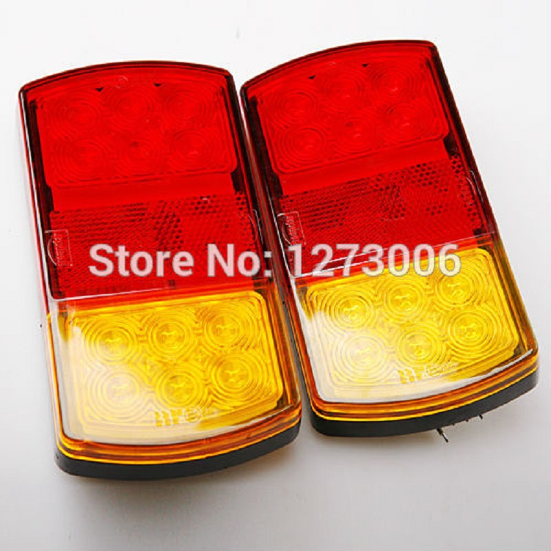 Universal 2pcs 12V 2W LED Tail Combination Taillights Light Truck Trailer Caravan Fire Engines Waterproof Rear Lights Hot Sale 660v ui 10a ith 8 terminals rotary cam universal changeover combination switch