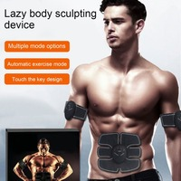 Abdominal Muscle Trainer Electric Pulse Treatment Massager Abdominal Muscle Trainer Wireless Sports Muscle Stimulator Fitness