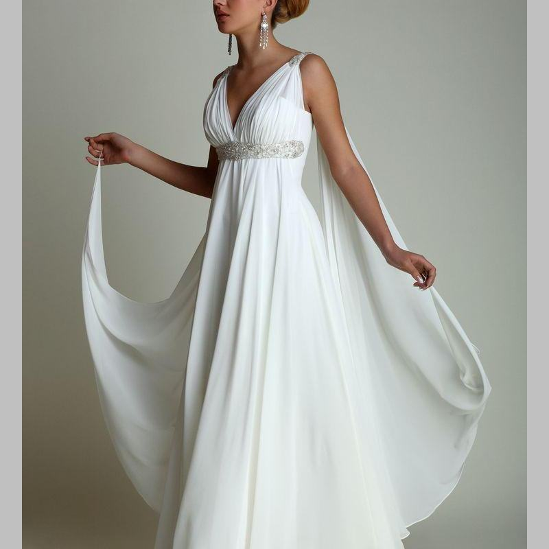 Grecian Style Wedding Gown: Greek Style Wedding Dresses WithRibbon 2017 Sexy V Neck