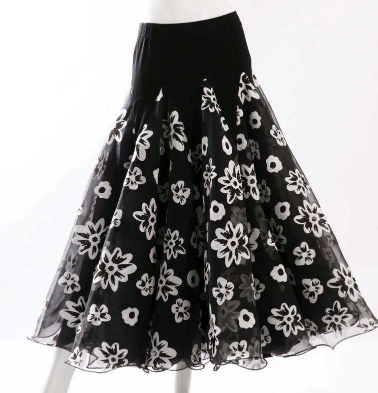 Flamenco Dance Costume Skirt Long Ballroom Dancing Modern Standard Waltz Dancer Dress Spain LXQ915