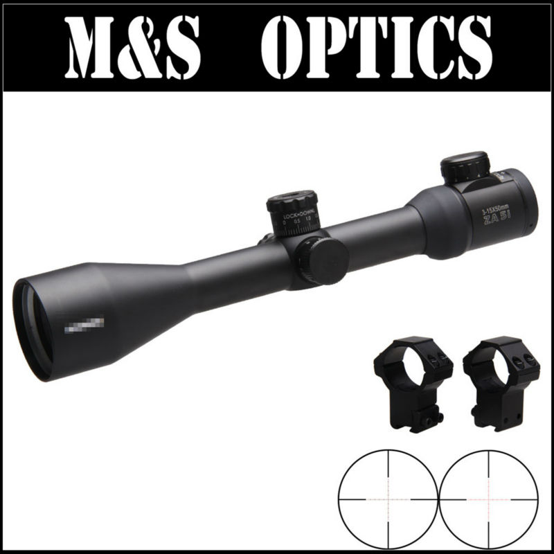 High Quality 3-15x50 HD ZA 5i LSF Tactical Gun Scopes Optical Sights Hunting Riflescopes For Rifles For Hunter marcool 4 16x44 side focus front focal plane optical sights rifle scope hunting riflescopes for tactical gun scopes for adults