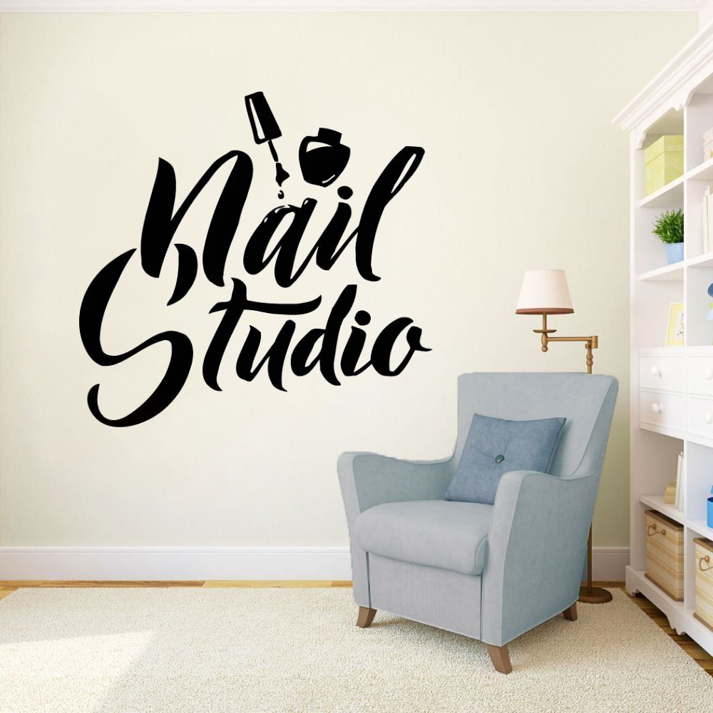 Nail Art Polish Wall Sticker Beauty Salon Decor Manicure Pedicure