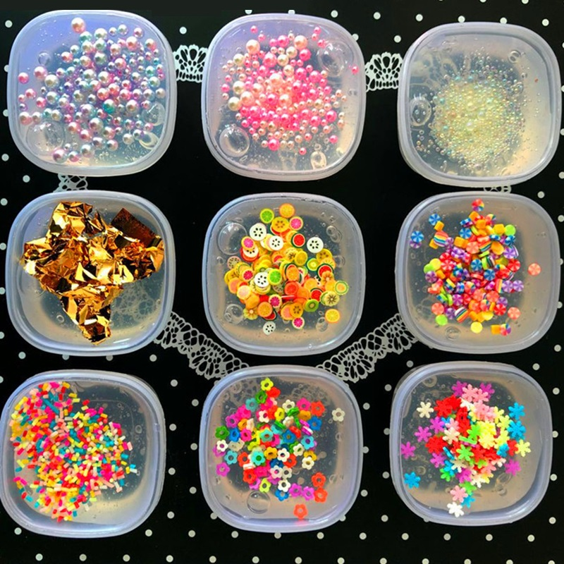 6cm 1PCS Fruits Candy Crystal Slime DIY Sludge Squishy Shiny Mud Clay Putty Plasticine Kids Antistress Fidget Relief Toy