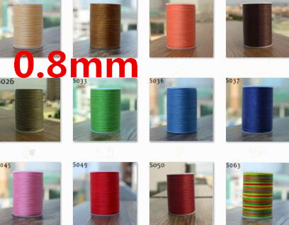 78m long 0.8mm wide 18 colors flat waxed thread for leather sewing, YULE thread