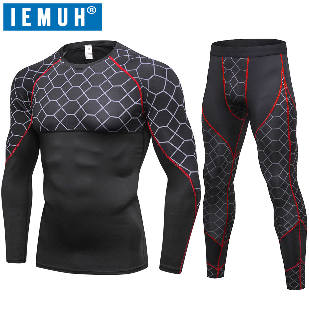 2018 New Autumn Winter Thermal Underwear For Men Quick Dry Elastic Compression Warm Long Johns Male Casual Thermo Underwear Set(China)