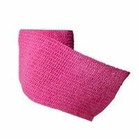 12 Pz/lotto Non tessuto Coesivo della garza elastica Autoadesiva Benda Medica 5 cm * 4.5 m Rosa