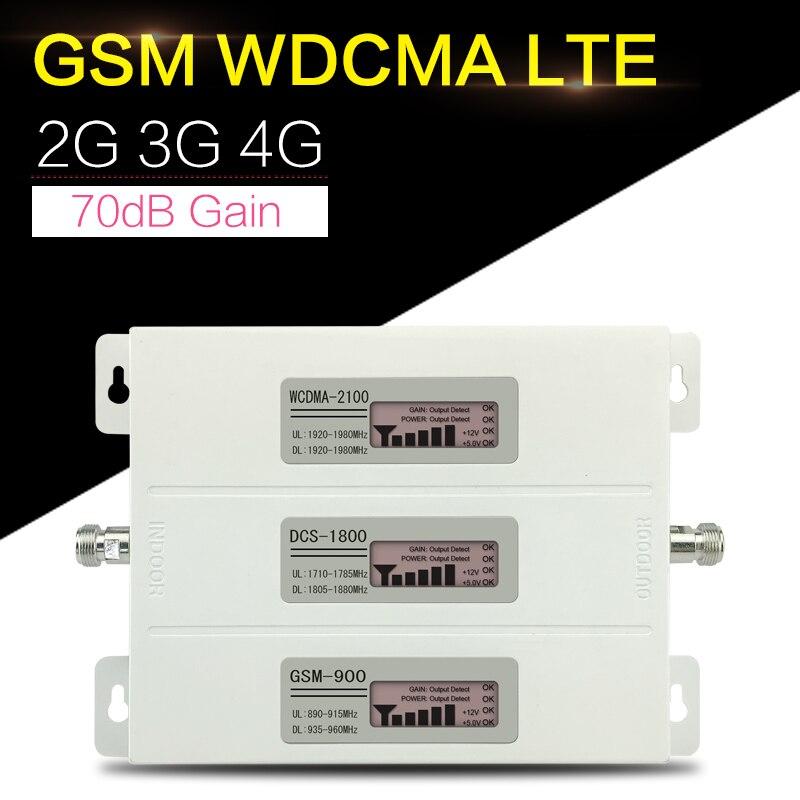 Répétnet R23A-GDW amplificateur de Signal Mobile 2G 3G 4G GSM DCS LTE WCDMA 900 1800 2100 répéteur de Signal GSM Tri bande 4G LTE Booster