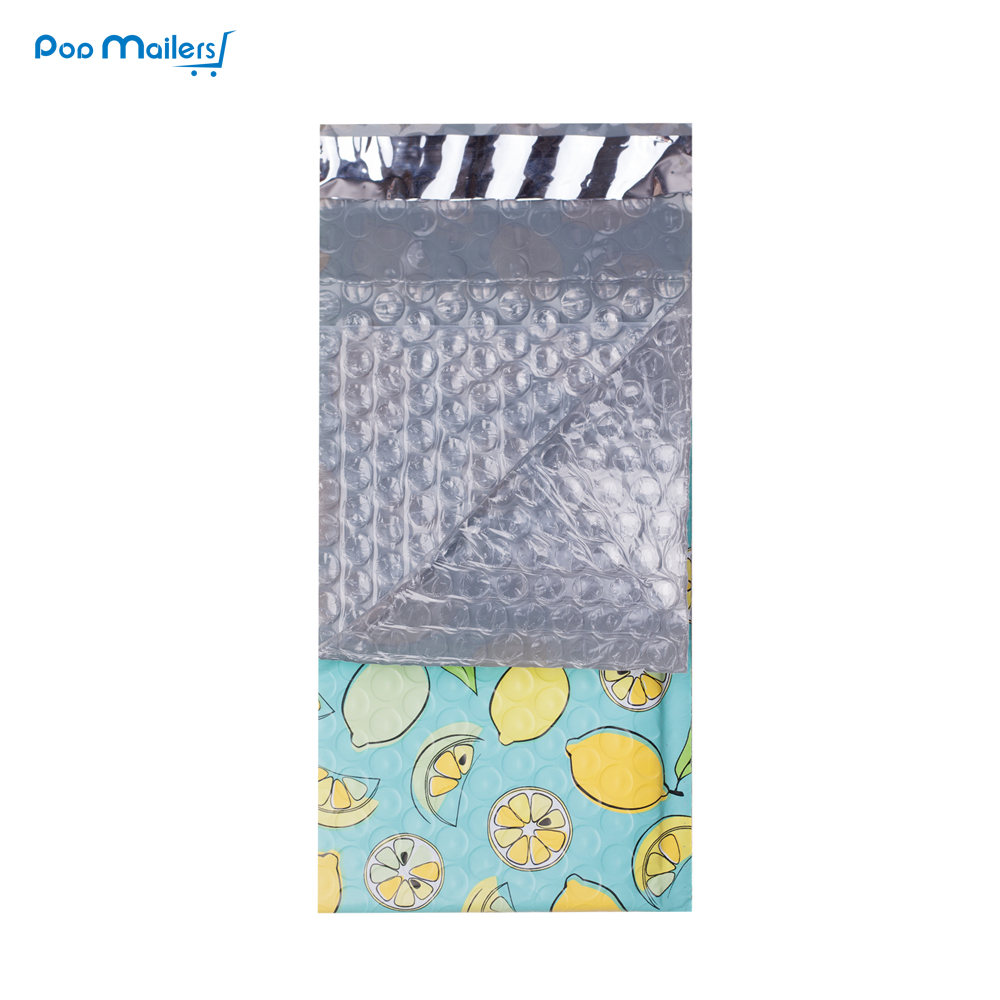 000 120x180 mm 4x7 inch 10pcs Lemon Designer Poly Bubble Mailers Padded Envelopes Boutique Custom Bags in Paper Envelopes from Office School Supplies