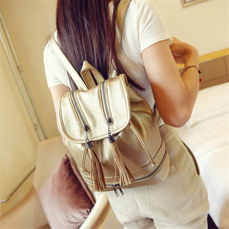 ETONWEAG Women Mini Small Backpacks Fashion PU Leather Gold Shoulder Bag Backpack School Bags Teenager Tassel Bag e27 220v 20w 1900lm 98led 5730sdm white led corn light bulb