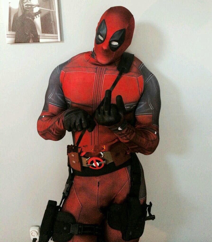 Deadpool Lycra Spandex Costume Kid and Adult Halloween Cosplay Superhero Suit