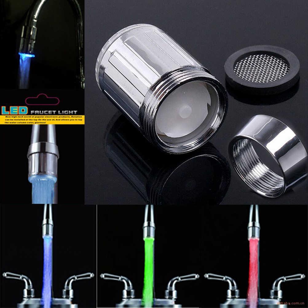 1 шт. Светодиодный водопроводный кран с датчиком температуры 3 цвета RGB