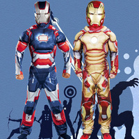 Cosplay Superhero Captain America Iron Man Halloween Costume For Kids Fantasy Fancy Dress Boy Carnival Party