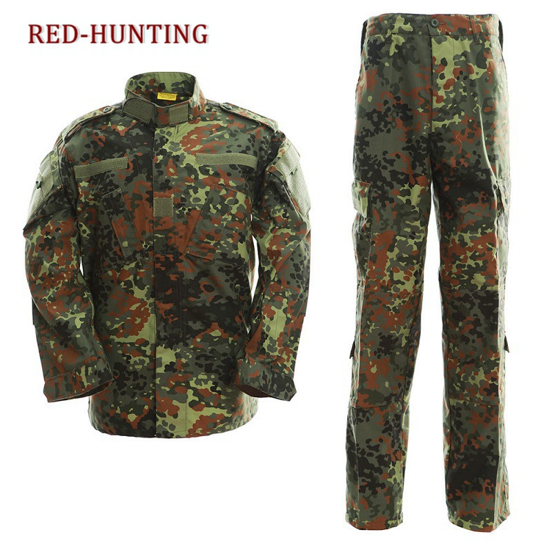Airsoft Military German Digital Camo Tactical Special Force Uniform Shirt and Pants Outdoor Sports Army Paintball