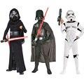 O envio gratuito de 2016 star war darth vader storm trooper (anakin skywalker) crianças cosplay roupas traje do partido do cabo e máscara
