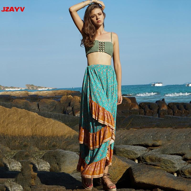 05e257459d3 Llegada Verano Baño Diseño Falda Vintage Floral Nueva Ropa Playa 2019 De  Jzayv Asimétrica 4qTxIEUq