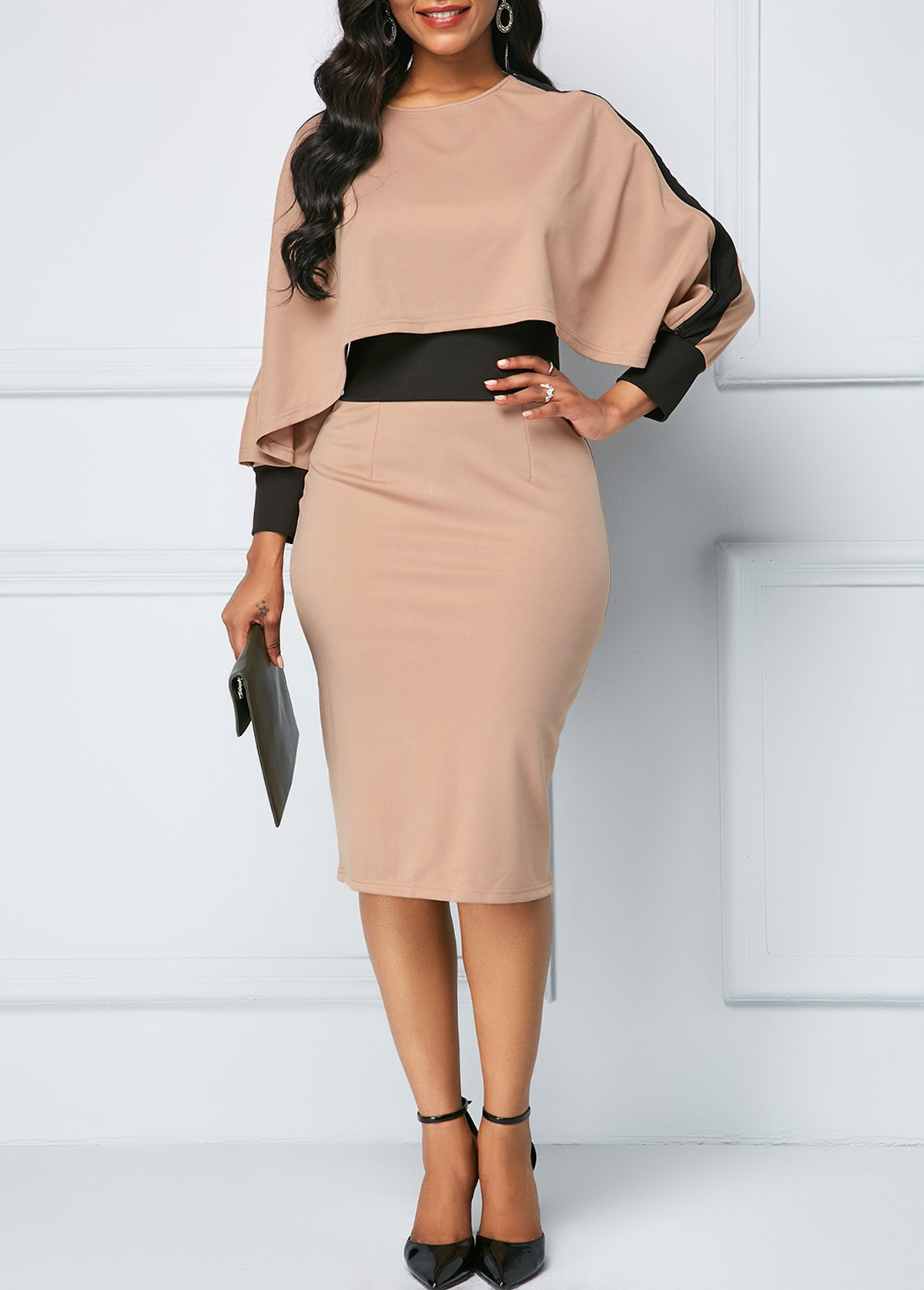 Large size coloured women dress