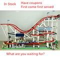 Neue 4619 Pcs Die achterbahn fit legoings stadt creator technik figuren Buidling Block Ziegel 10261 Kinder diy Spielzeug geburtstag geschenk
