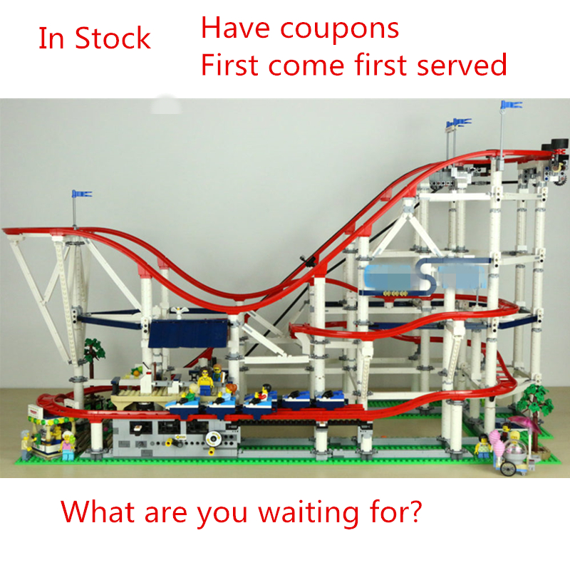 New 4619Pcs The roller coaster fit legoings city creator technic figures Buidling Block Bricks 10261 Kids