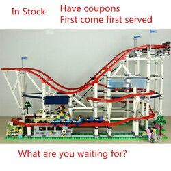 Nuovo 4619 Pcs Il roller coaster fit legoings città creatore technic figure Buidling Mattoni del Blocchetto 10261 Per Bambini fai da te Giocattoli di compleanno regalo