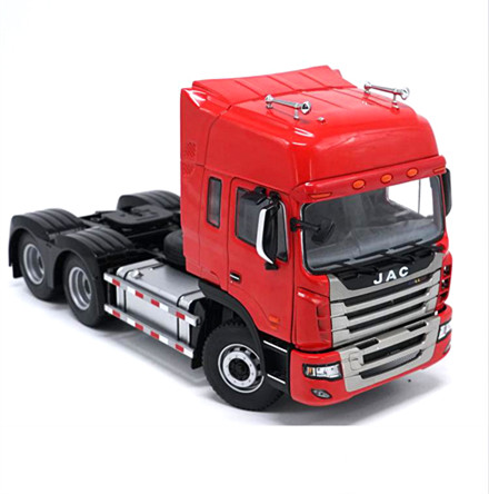 Exquisite,Collectible Alloy Model Gift 1:24 Scale JAC GALLOP K Truck Tractor Trailer Vehicles DieCast Toy Model for Decoration