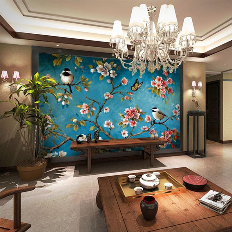 Chinese Flowers 3D Wallpaper (Per Square Meter)