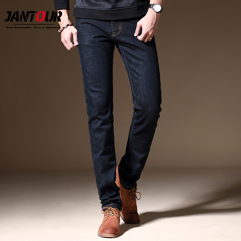 jantour 2017 new luxury Men's brand black jeans
