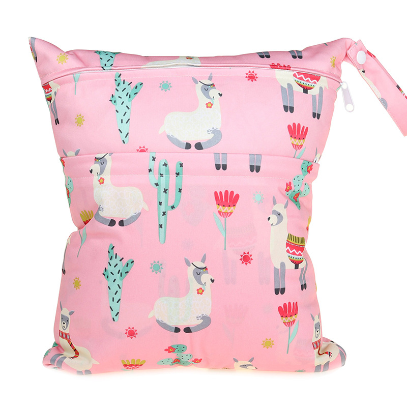 [Sigzagor] 1 Влажная сухая сумка с двумя молниями для детских подгузников, водонепроницаемая сумка для подгузников, розничная и, 36 см x 29 см, на выбор 1000 - Цвет: W117