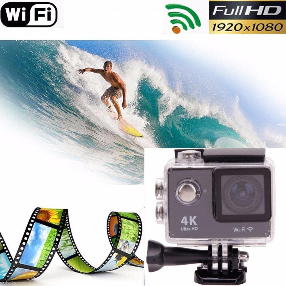 4 K Full HD 1080 P Cam Sport Action Mini caméra Wifi plongée en plein air étanche vidéo son Audio enregistreur pour iPhone Android