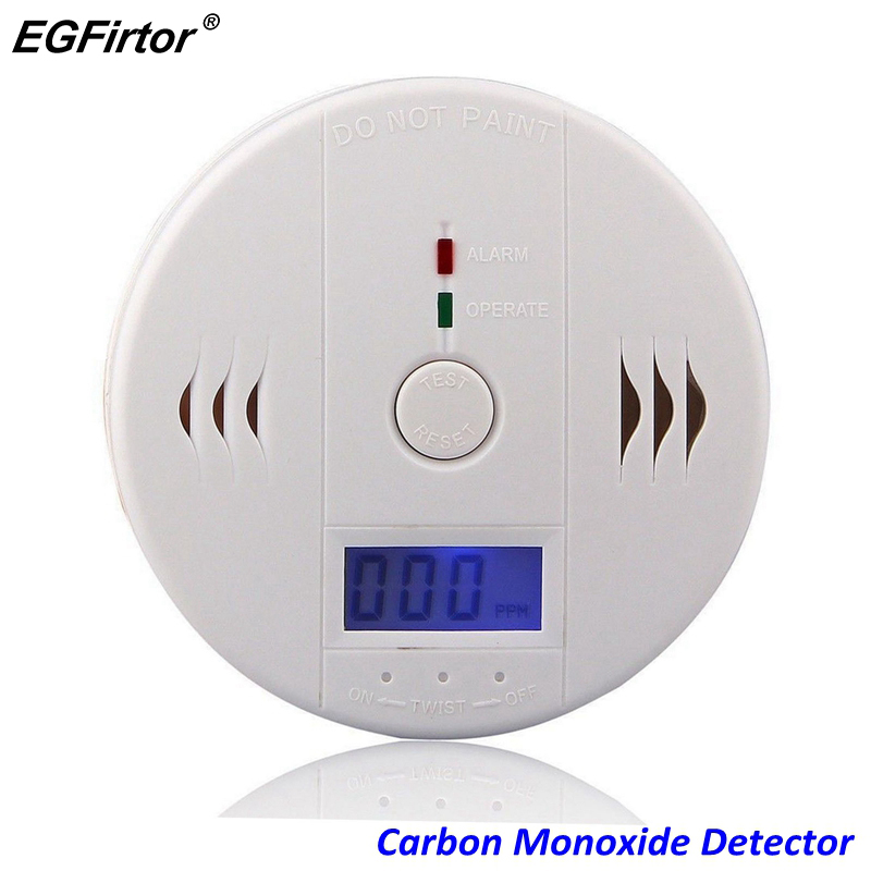 Home Security LCD Carbon Monoxide Detector Independent CO Gas Sensor 85dB Warning-up High Sensitive Poisoning Alarm Detector