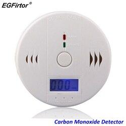 Home Security LCD Carbon Monoxide Detector Independent CO Gas Sensor 85dB Warning-up High Sensitive Poisoning Alarm Detector