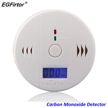 Home Security LCD Carbon Monoxide Detector Independent CO Gas Sensor 85dB Warning-up High Sensitive Poisoning Alarm Detector lcd co carbon monoxide smoke detector alarm poisoning gas warning sensor monitor device gv99