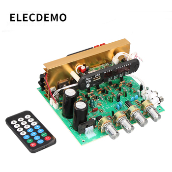 Bluetooth Amplifier Board 80W 2.1 Channel Subwoofer Amplificador Audio Board With AUX FM TF U Disk Home Theater Diy tda7498 bluetooth amplifier audio board dual channel 2x50w stereo amp digital power amplifiers support tf card aux home theater