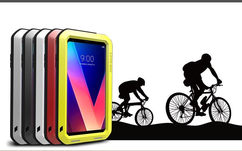 Pour LG V30 V30 Plus V35 ThinQ V30S ThinQ boîtier étanche en aluminium résistant aux chocs couvercle en métal pour LG V30 Plus V35 + coque de téléphone
