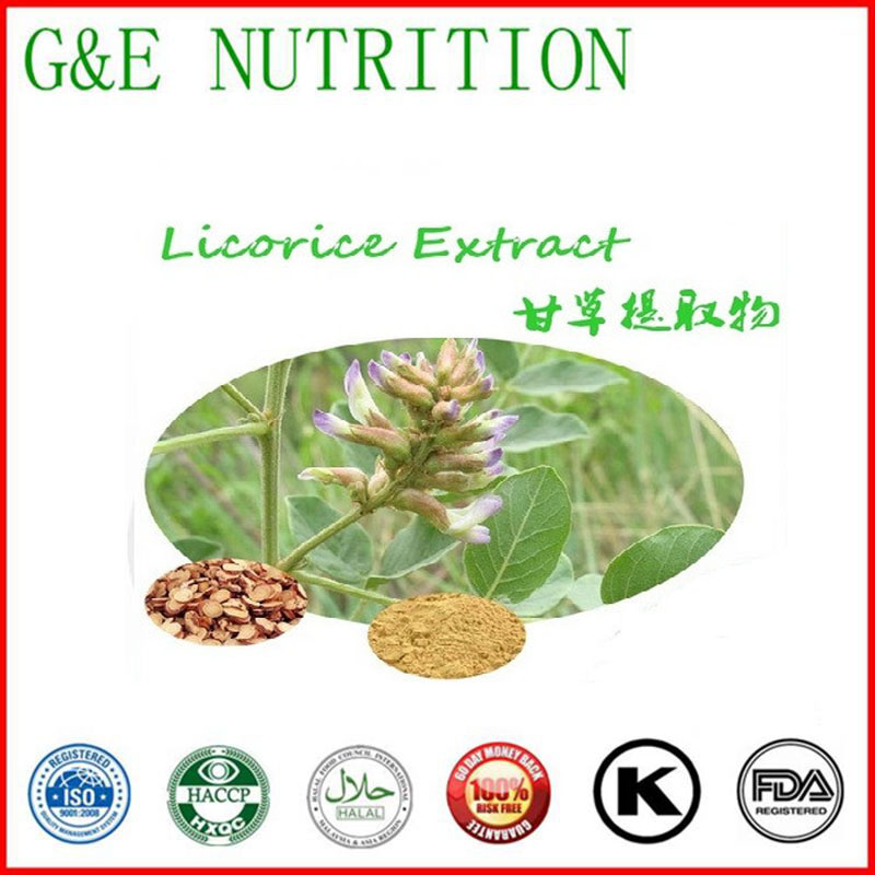natural herb extract liquorice Extract / licorice root Extract Powder with free shipping pure fo ti root extract powder fleece flower he shou wu hair growth and black hair anti aging enhance immunity free shipping