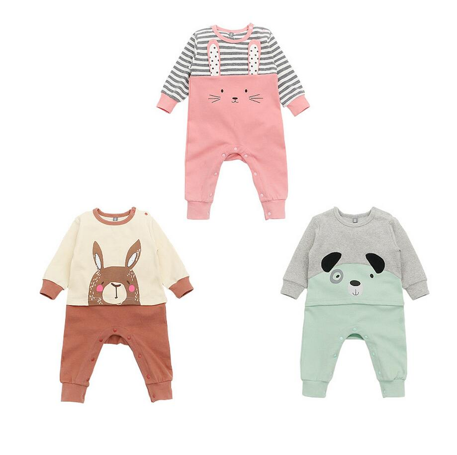 1PC Unisex Baby Cartoon Long Sleeves Romper Baby Girl Outfit Infant Boy Clothes Spring Autumn