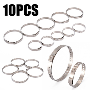 Image 1 - Auto Fastener & Clip 10pcs Large+Small Universal Clip Adjustable CV Joint Boot Crimp Clamp Kit For Car Accessories