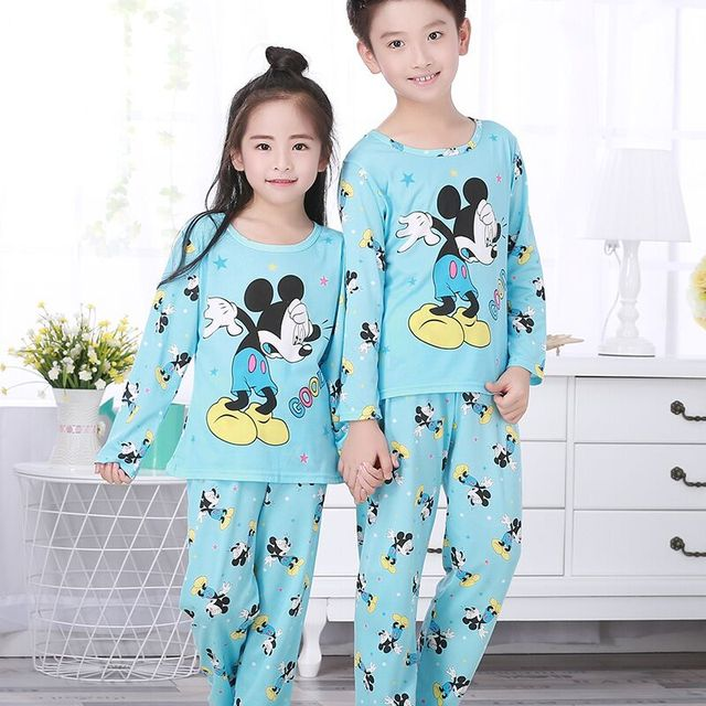 5680afb7cf Cartoon Children long Sleeve Pajamas Boy Girl autumn sleepwear Baby nighty Suit  Child bedgown Clothes kids lovely pyjamas vb012