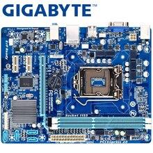 Материнская плата GIGABYTE GA-H61M-S1 для настольных ПК H61 Socket LGA 1155 i3 i5 i7 DDR3 16G uATX UEFI биос оригинальная H61M-DS1 материнская плата