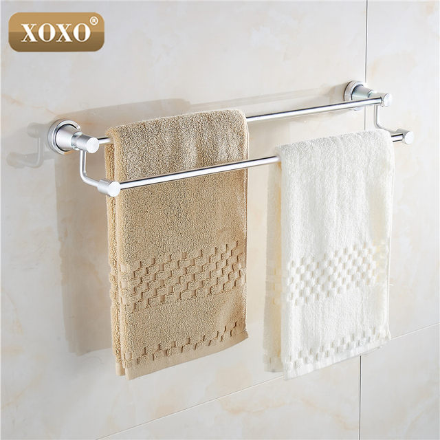 XOXO Product Soild Practical Wall Mounted Aluminum Bathroom Accessories  Towel Holder Towel Racks 3024D