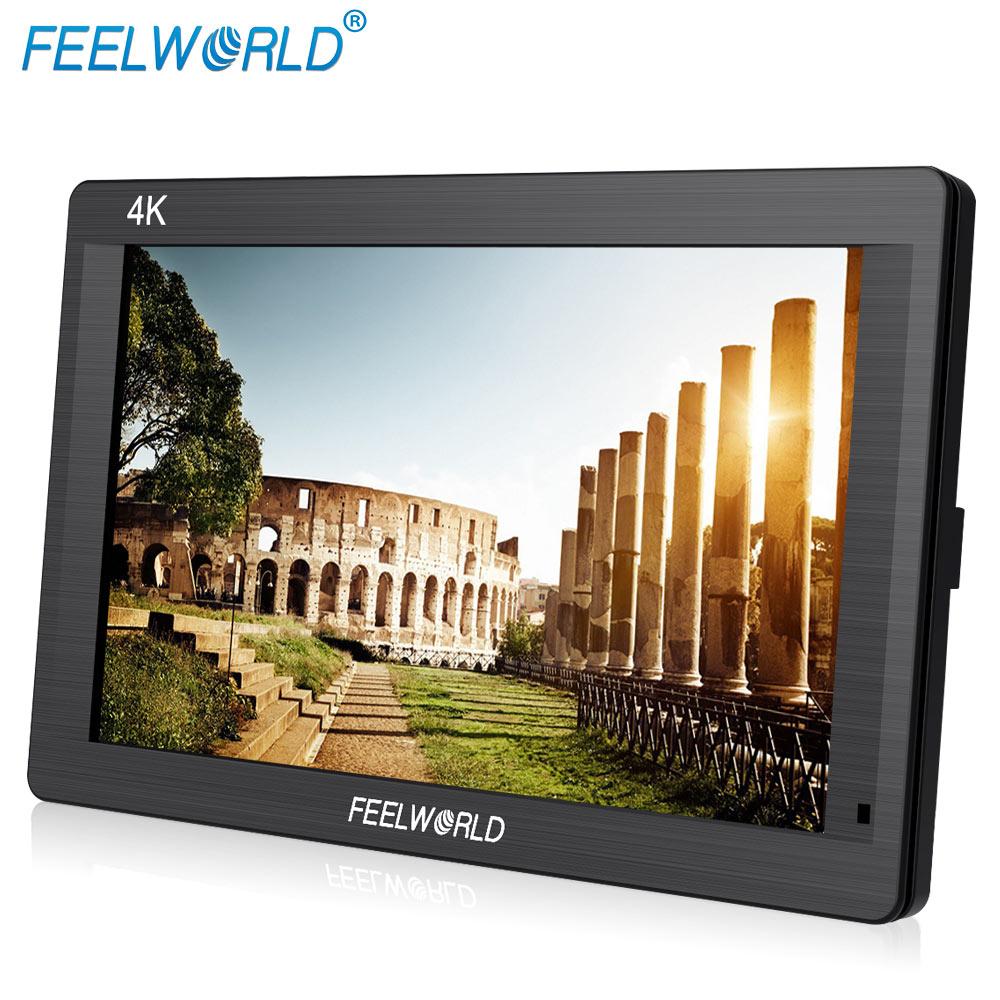 Feelworld FH7 7 IPS 4K 1920x1200 Full HD Camera Field Monitor with HDMI 4K UHD Input Output Peaking Focus Histogram Zebra Audio
