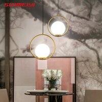 Nordic Pendant Lights Glass Lamp Fixtures luminaria Living room Bar Bedroom Postmodern Pendant Lighting lustre pendente