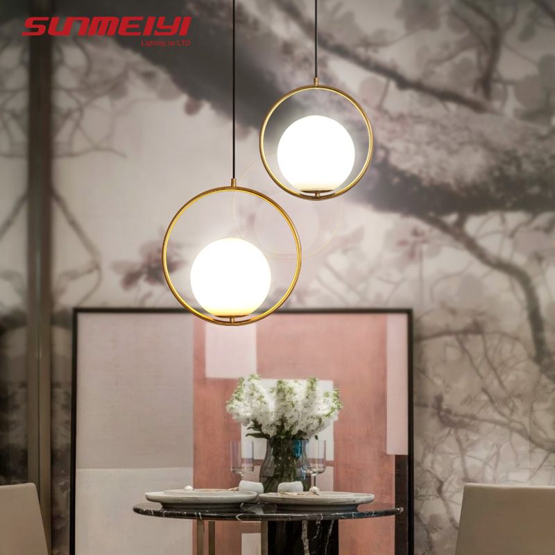 Nordic Pendant Lights Glass Lamp Fixtures luminaria Living room Bar Bedroom Postmodern Pendant Lighting lustre pendente diamond himmeli pendant lights black iron art birdcage pendant lamp suspension for living room bedroom lighting fixtures pl321 page 7