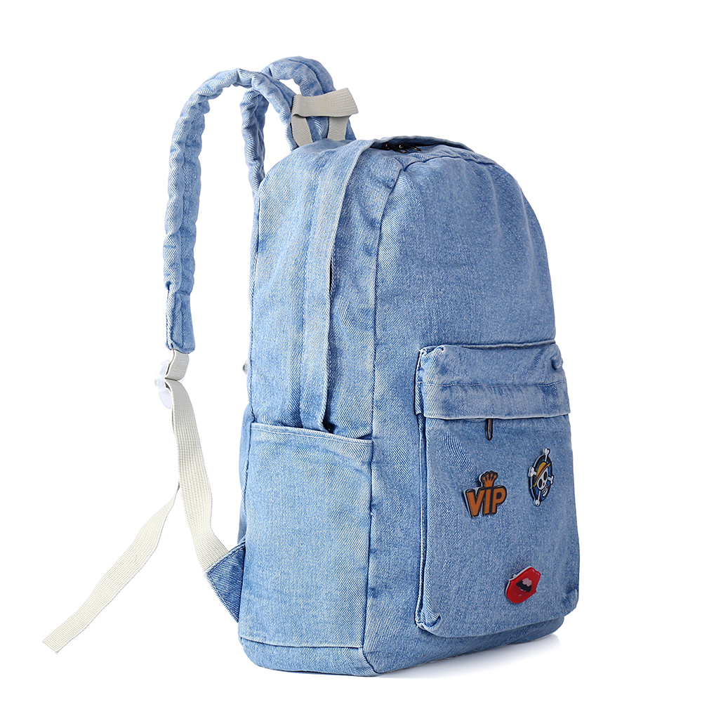 PECKHAMRYE 2017 Denim Backpack Women canvas blue School bag cute child School Backpacks Jeans Backpacks For Teenage Girls бытовая химия cillit bang средство для удаления накипи чистящее 450 мл