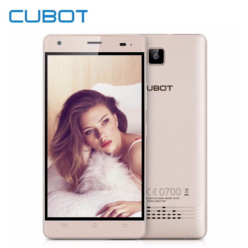 Cubot Echo Smartphone 5.0 Inch Android 6.0 2GB RAM 16GB ROM 13.0MP MTK MT6580 Quad Core Dual SIM 3G Unlocked Cell Phones Celular