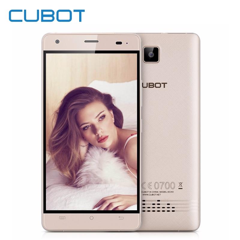 Cubot Echo Smartphone 5.0 Inch Android 6.0 2GB RAM 16GB ROM 13.0MP MTK MT6580 Quad Core Dual SIM 3G Unlocked Cell Phones Celular