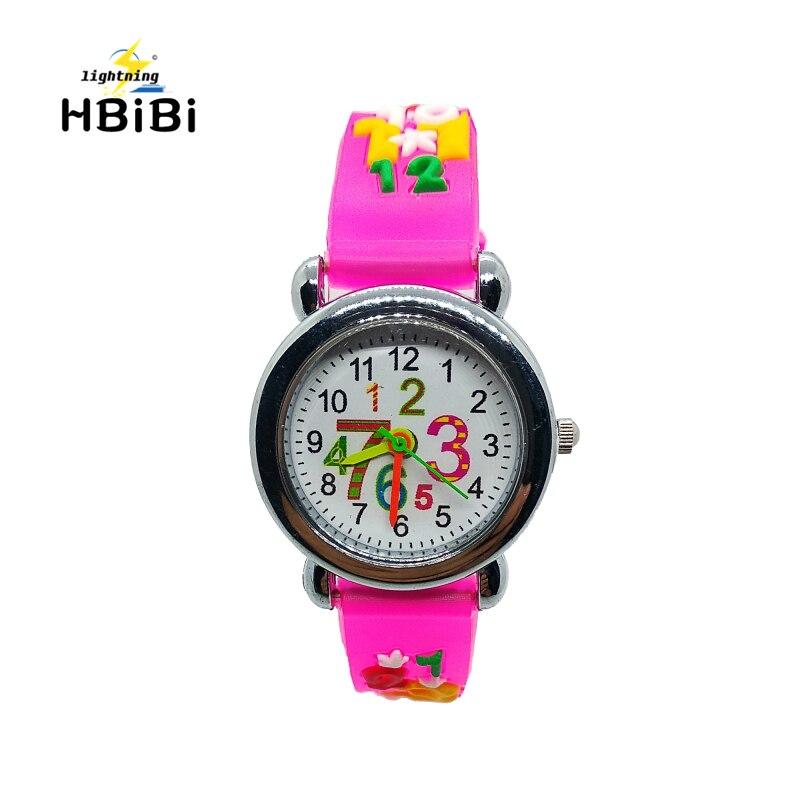 Student Arabic Numerals Children Quartz Watch Child Silicone Watches Pencil Pattern Watch Kids Wristwatches Girl Boy Gift Clock