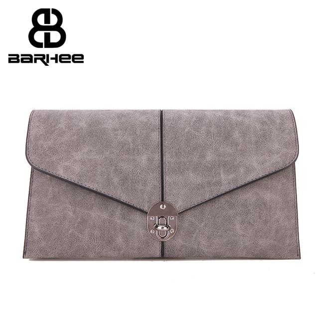 European Vintage Women Day Clutch Bag Faux Suede Leather Handbag Fashion Ladies Envelope Hand Bag Long Shoulder Strap Gray Blue